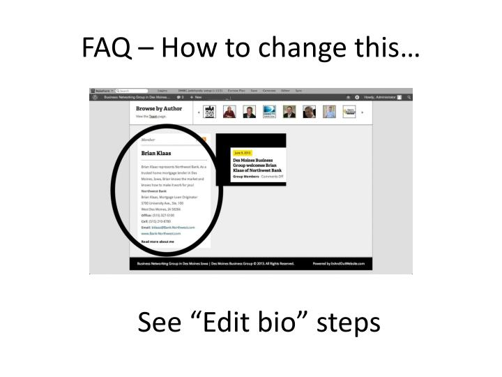 FAQ – How to change this…