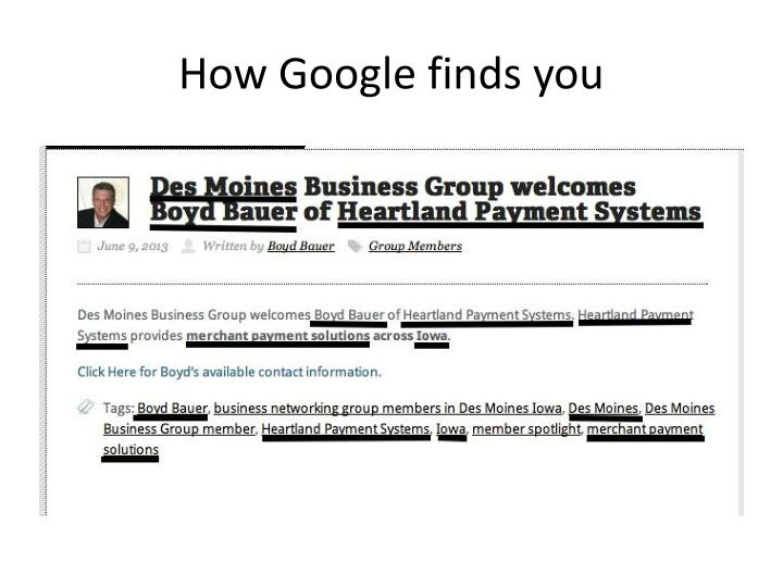 How Google finds you