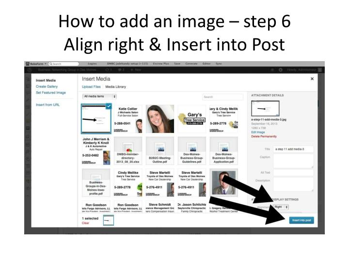 How to add an image – step 6