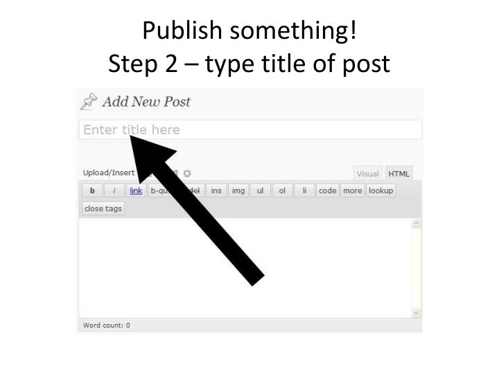 Publish something!