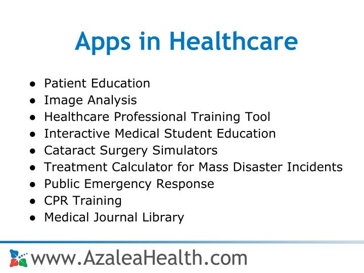 Apps in Healthcare