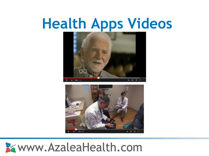 Health Apps Videos