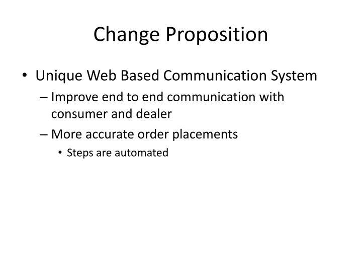 Change Proposition