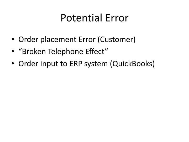 Potential Error