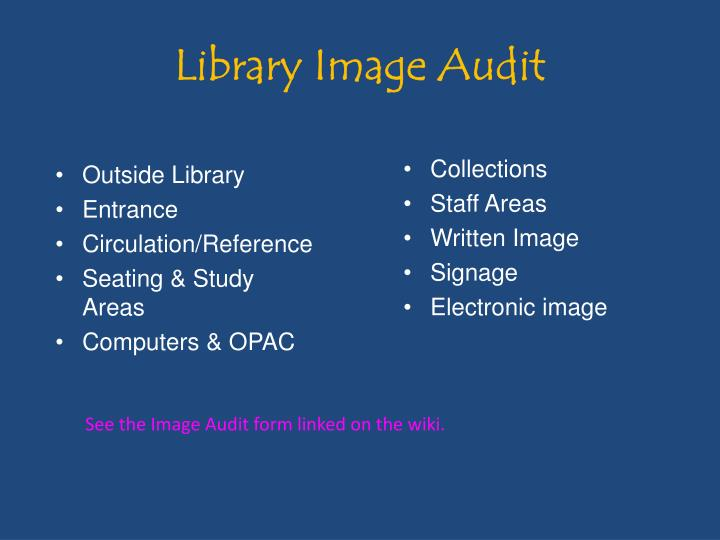 Library Image Audit