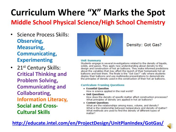 "Curriculum Where ""X"" Marks the Spot"