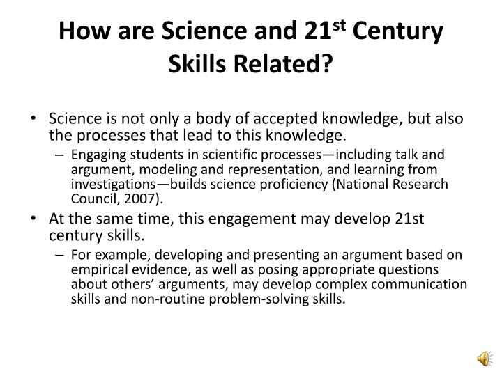 How are science and 21 st century skills related