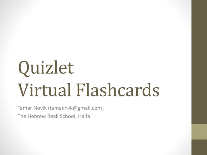 PowerPoint Flashcards  Quizlet