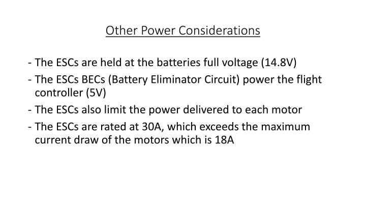 Other Power Considerations