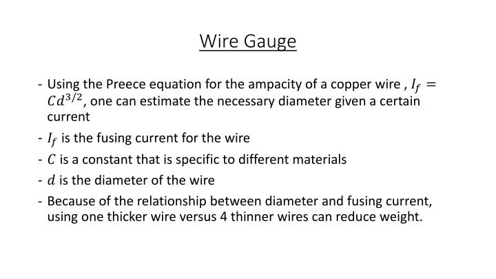 Wire Gauge