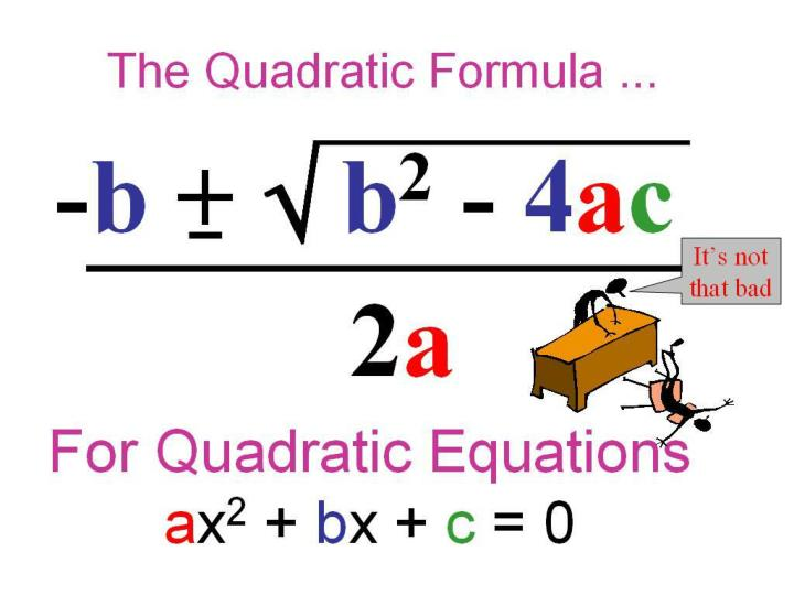 7 6 using the quadratic formula