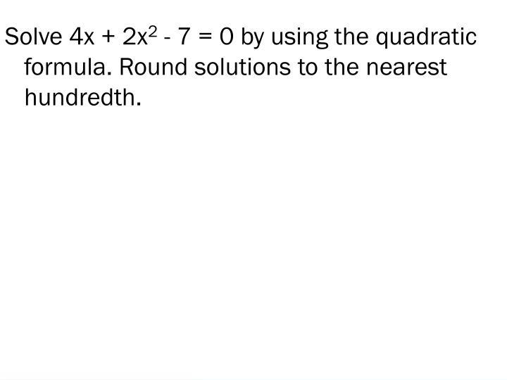 Solve 4x + 2x
