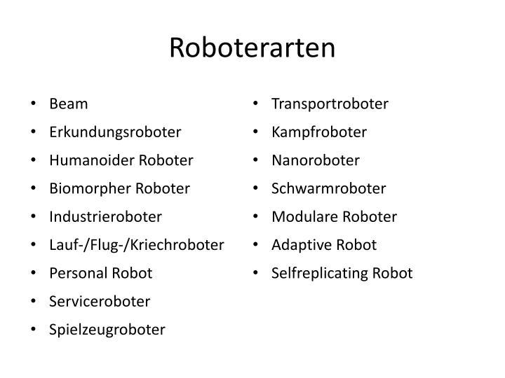 Roboterarten
