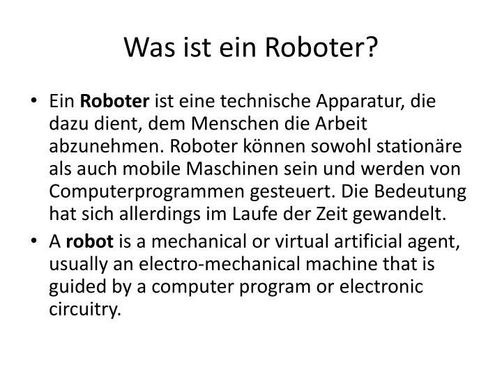 Was ist ein Roboter?