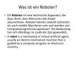 was ist ein roboter