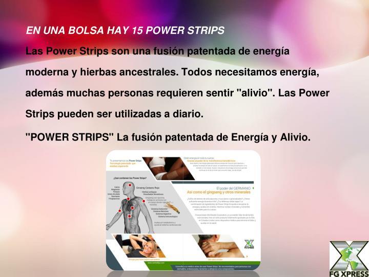 EN UNA BOLSA HAY 15 POWER