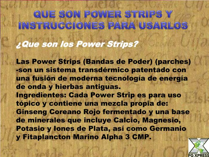 QUE SON POWER STRIPS Y INSTRUCCIONES PARA