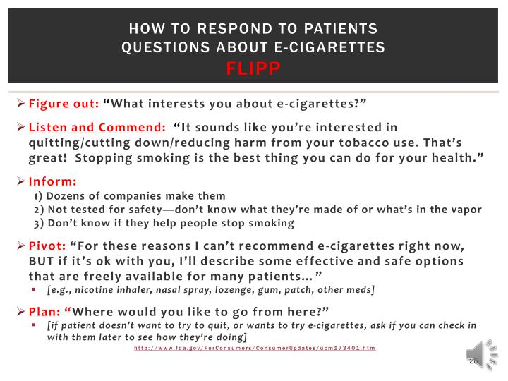 How to respond to patients