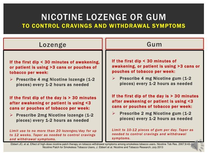 Nicotine Lozenge or Gum