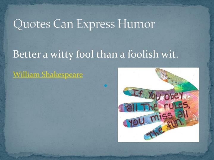 Quotes Can Express Humor