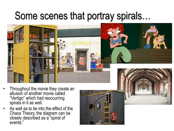 Some scenes that portray spirals…