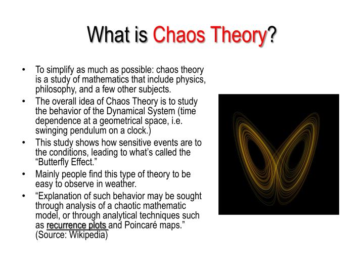 What is chaos theory