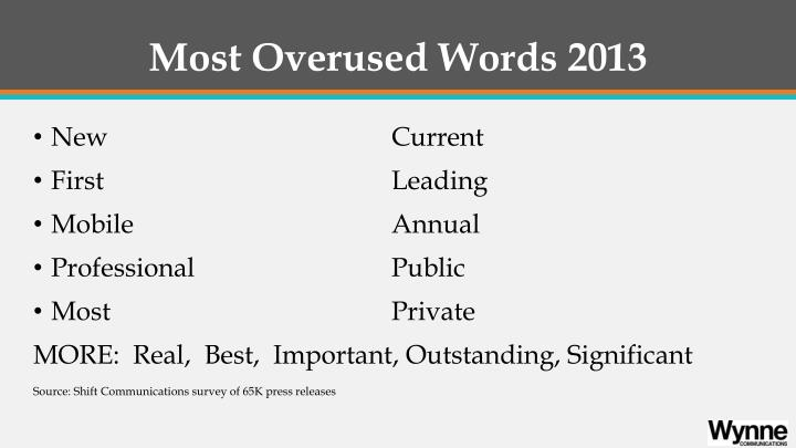 Most Overused Words 2013