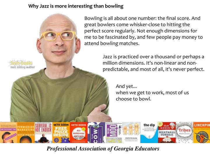 Why Jazz is more interesting than bowling
