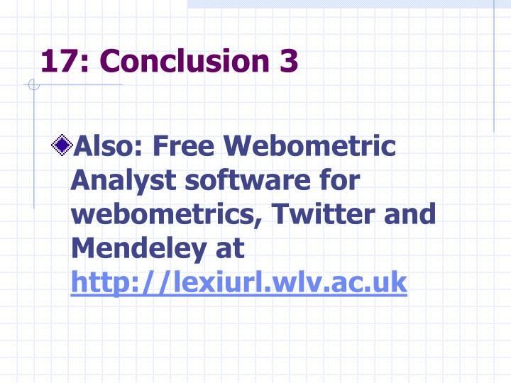 17: Conclusion 3