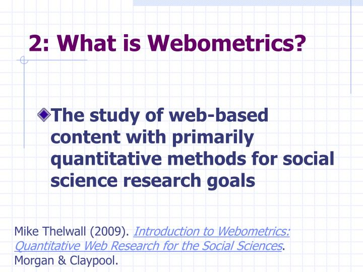 2 what is webometrics