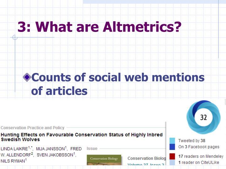 3: What are Altmetrics?