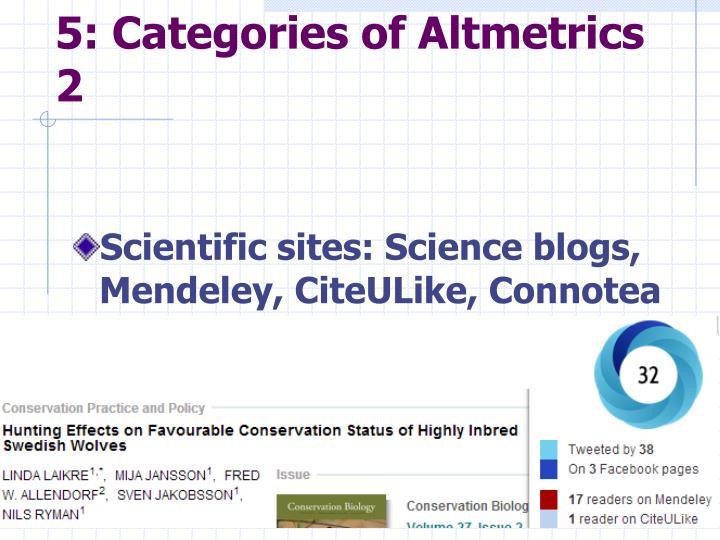5: Categories