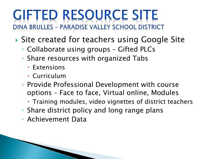 Gifted Resource Site