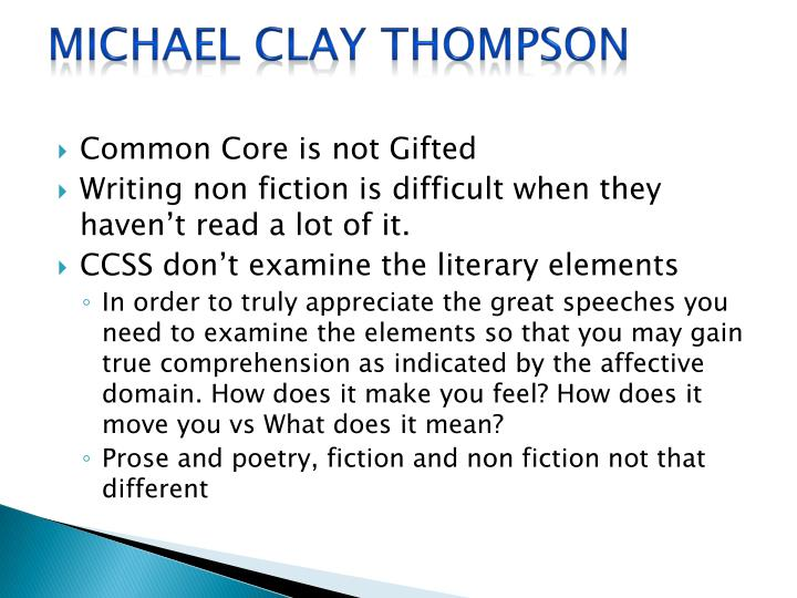 Michael clay thompson