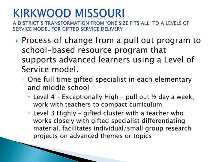 Kirkwood Missouri