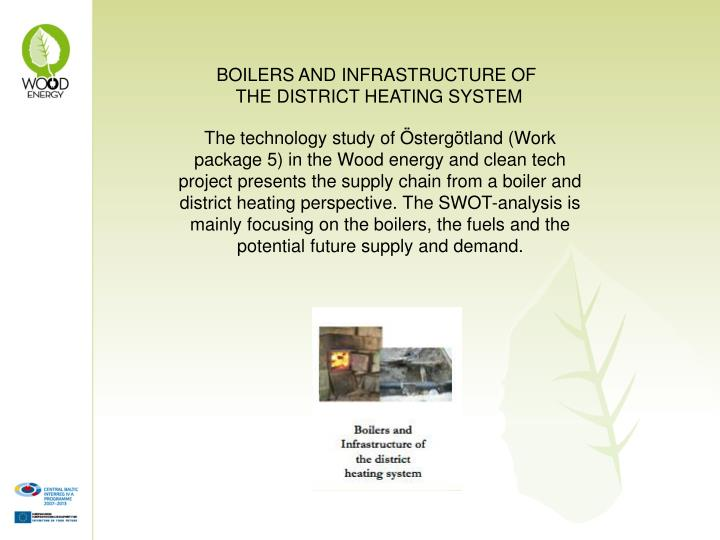 BOILERS AND INFRASTRUCTURE OF