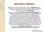 historia szko y