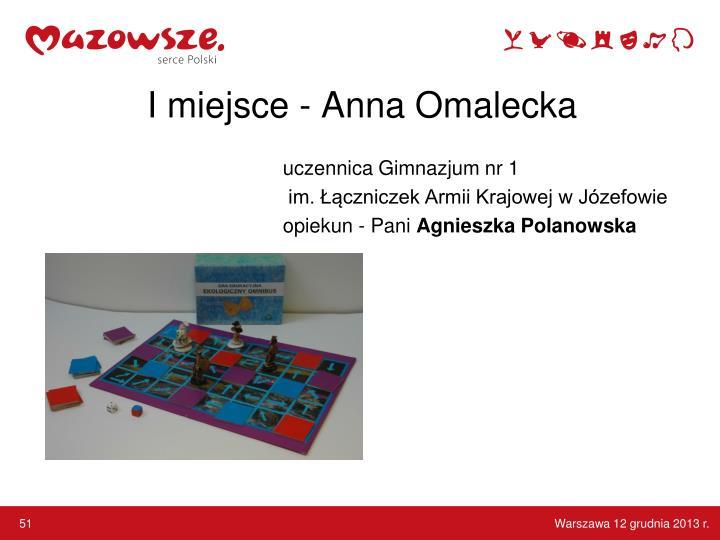 I miejsce - Anna