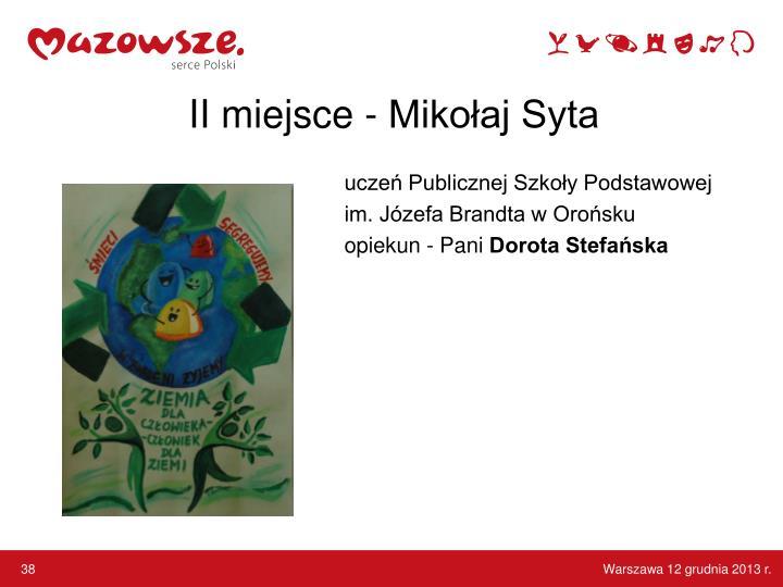 II miejsce - Mikołaj Syta