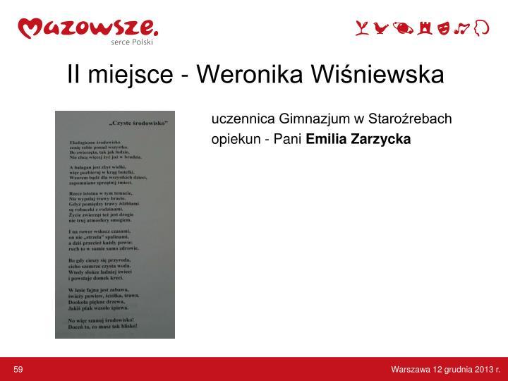 II miejsce - Weronika Wiśniewska