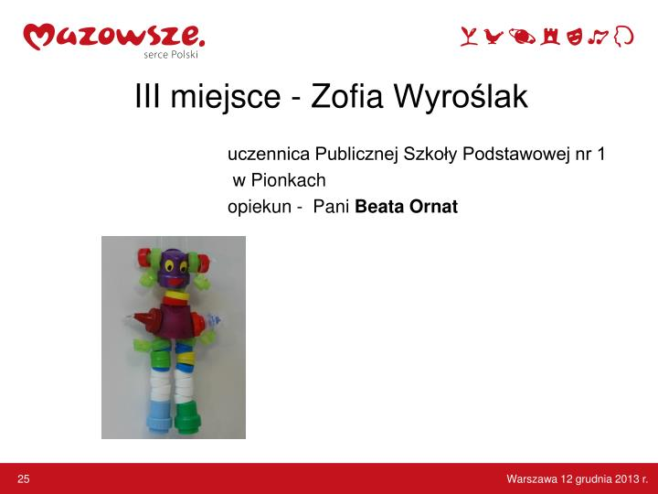 III miejsce - Zofia