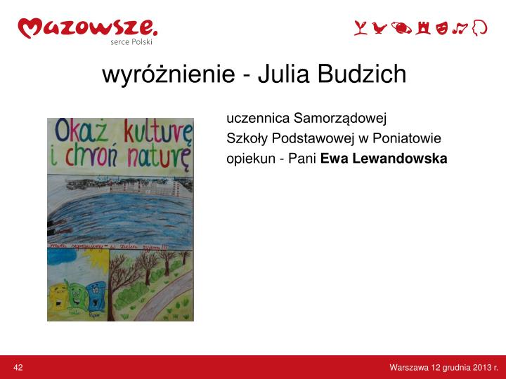 wyróżnienie - Julia