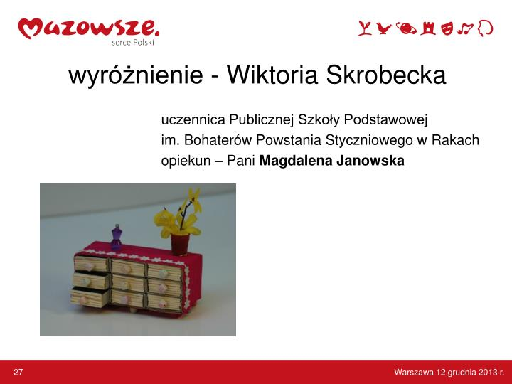 wyróżnienie - Wiktoria Skrobecka