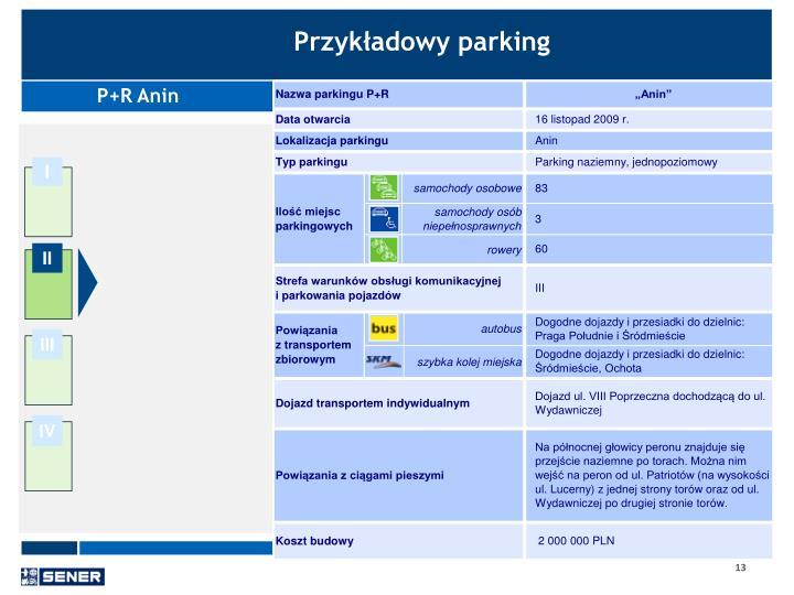 Przykładowy parking