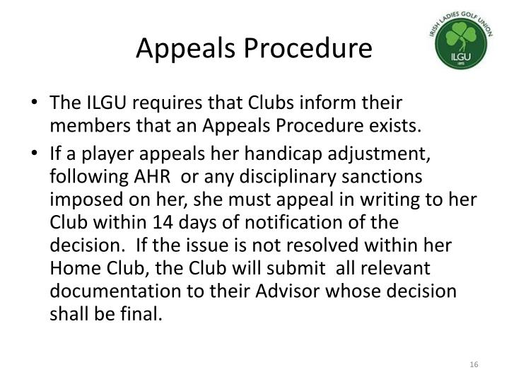 Appeals Procedure
