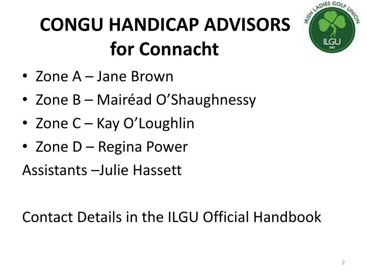 Congu handicap advisors for connacht