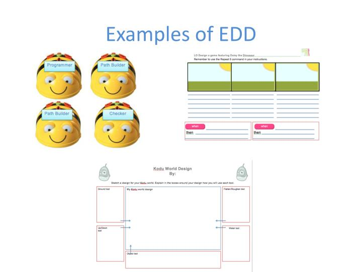 Examples of EDD