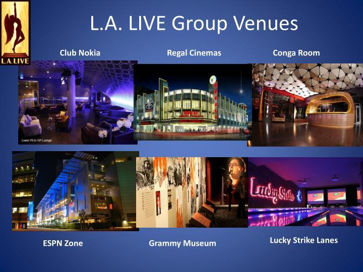 L.A. LIVE Group Venues
