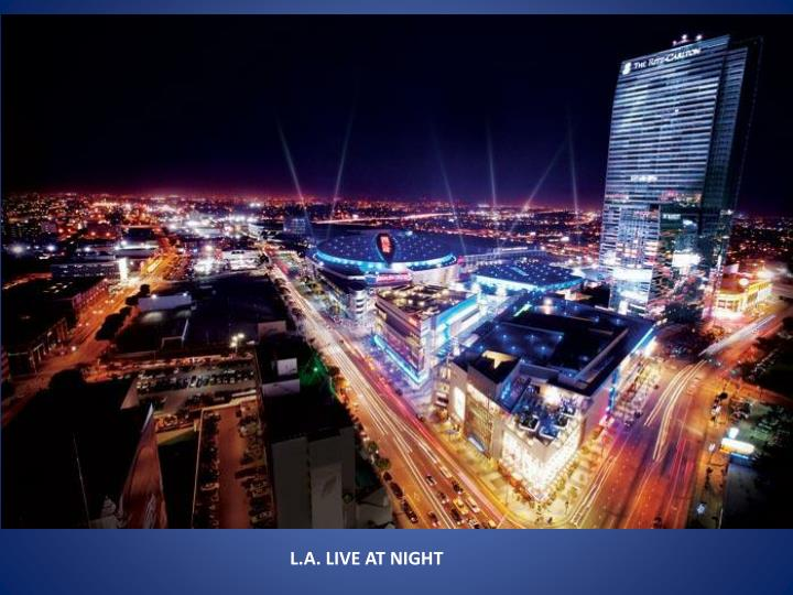 L.A. LIVE AT NIGHT