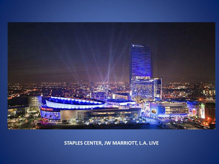STAPLES CENTER, JW MARRIOTT, L.A. LIVE